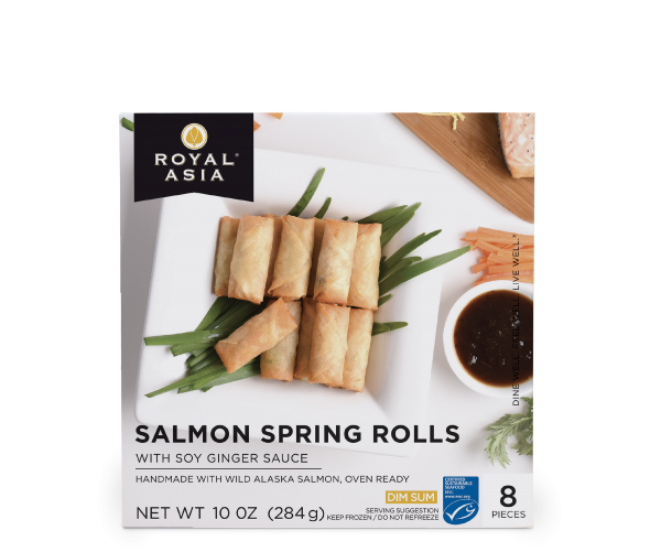 Salmon Spring Roll 10 oz - Box